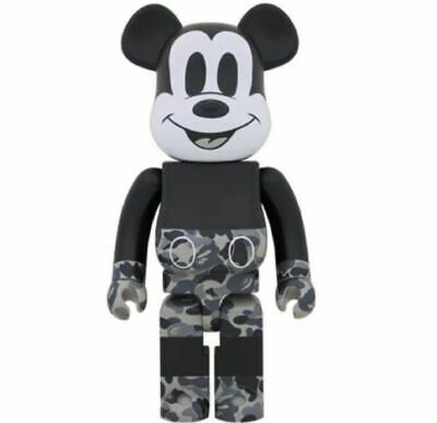 $1361.07 • Buy 1000 Bearbrick Be Rbrick Bape R Mickey Mouse Monotone Ver. Vape