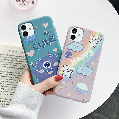 AU8.28 • Buy For IPhone 11 Pro Max XS XR X 8 7 Plus Slim Cute Pattern Case Rubber Soft Cover