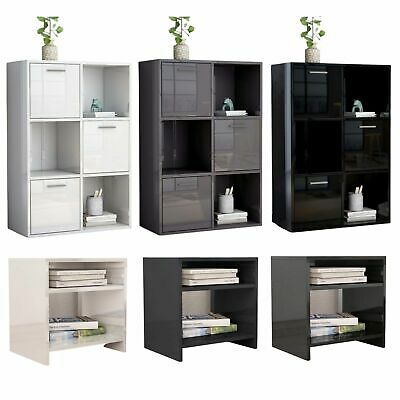 High Gloss Display Cabinet Sideboard Side Table Cupboard Storage Unit Shelf  • 99.99£