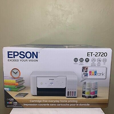 View Details New Epson ECOTANK ET-2720 Wireless All-In-One Supertank Color Printer - White!!! • 279.99$