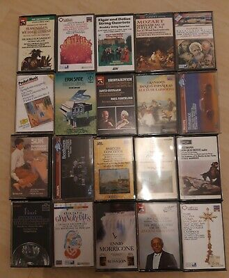 Classical Music Cassettes Bundle X 20 Incl Satie Mozart Elgar Johann Strauss • 1.99£