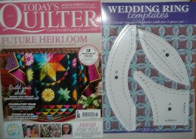 Today's Quilter Magazine Issue 69 2020 +free Gift Wedding Ring Templates • 1£