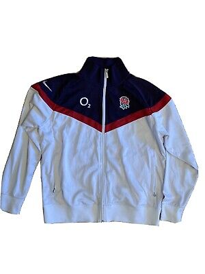 England Rugby Warm Up Zip Jacket LARGE • 25£