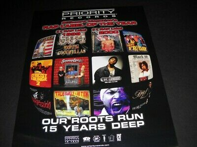 $9.95 • Buy PRIORITY Rap 2000 PROMO POSTER AD Snoop Dogg ICE CUBE Mack 10 MASTER P Others