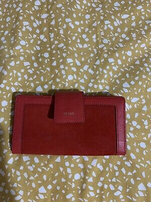 Fossil Logan RFID Tab Women's PVC Clutch - Red • 10£