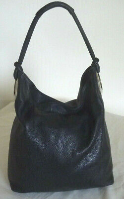 AU60 • Buy Oroton Hobo Black Leather Designer Shoulderbag Handbag Purse