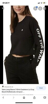 Vans Off The Wall Cropped Long Sleeved Top  • 3.30£