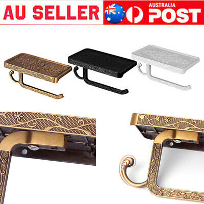 AU23.59 • Buy Toilet Roll Tissue Holder Stand Phone Shelf Bathroom Paper Holder Wall Mounted