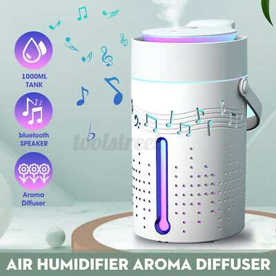 AU25.42 • Buy 1L Air Aromatherapy Humidifier Essential Oil Aroma Diffuser W/ Bluetooth