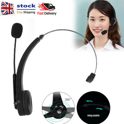 £11.39 • Buy Mono Headphone Wireless Bluetooth Headset Noise Canceling W/ Mic For Call Center