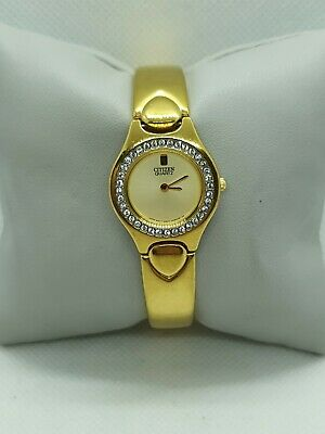 Citizen Quartz Gold Plated Diamond Set Ladies Watch 5920-D07036-KA • 25£