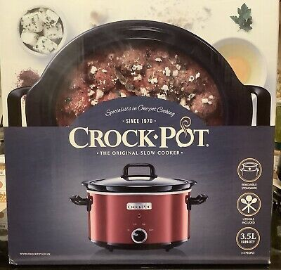 Crock-Pot 3.5L. Red Slow Cooker.New,Unopened. Great Christmas Gift. Student Gift • 10£