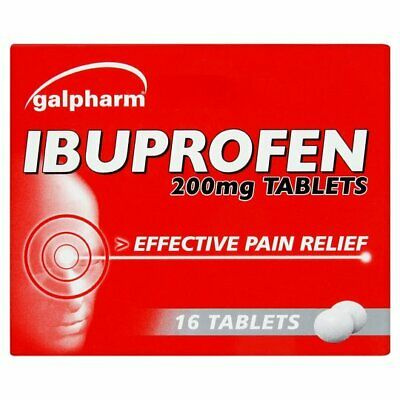 IBUPROFHEN 16 200MG TABLETS For PAIN RELIEF - Migraine MAX Order Quantity  2  • 1.95£