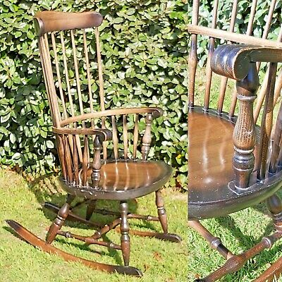 Traditional Rocking Chair, Vintage Wooden Rocking Chair, Nursery Rocking Chair • 30£