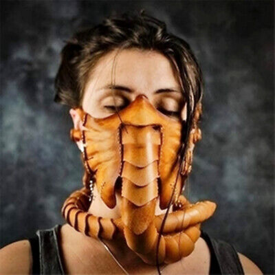 $ CDN25.84 • Buy Halloween Cosplay Scorpion Alien Latex Face Mask Party Costume Props Facehugger