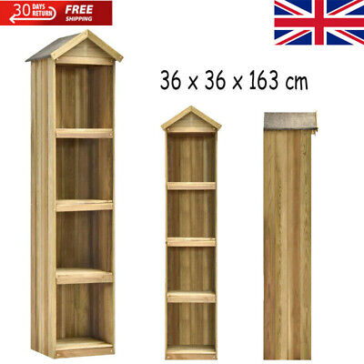 Wooden Garden Shed Tool Storage Apex Roof Cupboard For Outdoor Patio Storage • 78.44£