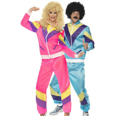 Mens Womens Shell Suit Costume 80s 90s Scouser Tracksuit Stag Do Fancy Dress UK • 14.88£