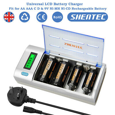 Universal USB Battery Charger For AA AAA SC Baby C Mono D 9V NiMH NICD Battery • 15.89£