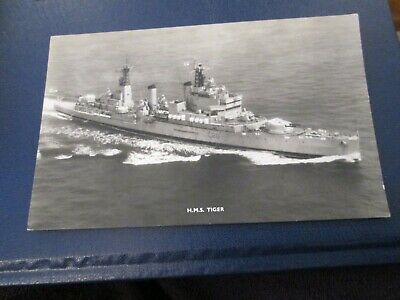 Postcard Of HMS Tiger (Unposted) RP • 2.99£