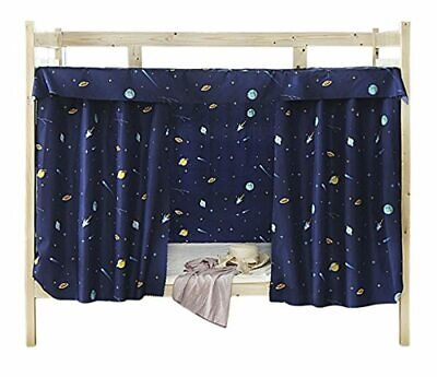 Cabin Bunk Bed Tent Curtain Cloth Dormitory Mid-sleeper Bed Canopy Spread Blacko • 14.83£