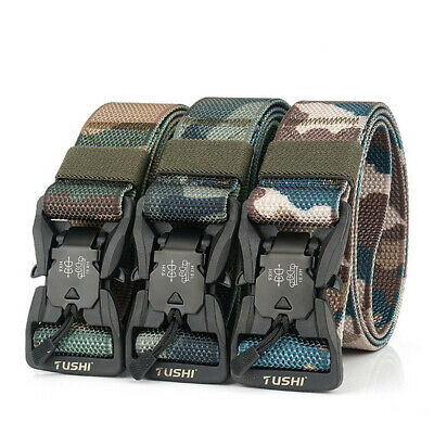 £6.95 • Buy Quick Release Buckle  Military Trouser Belt  Camo Army Tactical Webbing Nylon