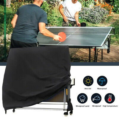 AU50.45 • Buy Black Full Size Table Tennis Ping Pong Table Cover Indoor/Outdoor Waterproof NEW