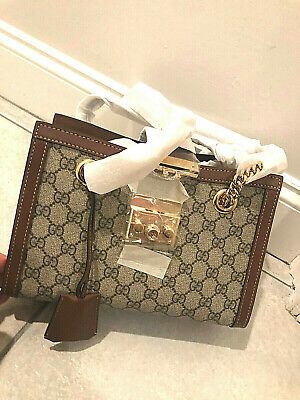 AU1424.69 • Buy Gucci Padlock Supreme GG Small Shoulder Bag, Beige - NEW