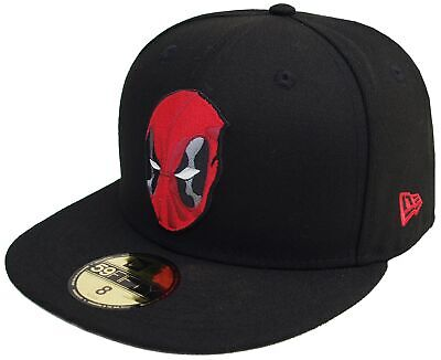 New Era Deadpool Head Black 59Fifty Fitted Cap Marvel Comics Limited Edition • 46.37£