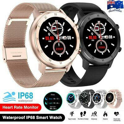 AU52.99 • Buy DT89 Waterproof Fitness Smart Watch Men Women Heart Rate Tracker For IOS Android