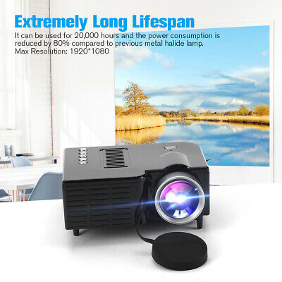 HD 1080P Mini LED Projector Home Theater Cinema Portable Video Multimedia USB • 22.99£
