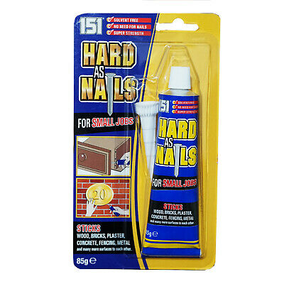 Hard As Nails For Small Jobs High Power Glue Wood Metal Plaster Concrete 85g • 2.49£