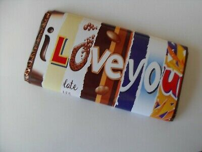 Novelty Chocolate Bar Wrapper, Adults Christmas Personalised Love • 2£