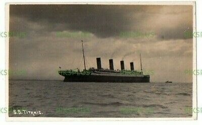 Old Postcard White Star S.s. Titanic In The Solent ? Real Photo Vintage C.1912 • 450£