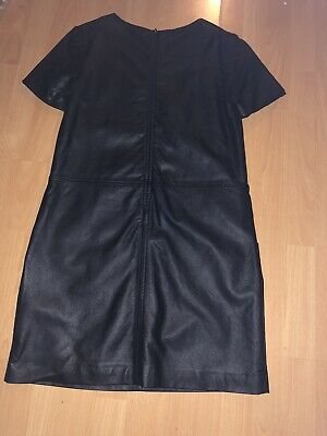 £15 • Buy Black Leather Look Panelled Shift Dress Size 12 New Without Tags