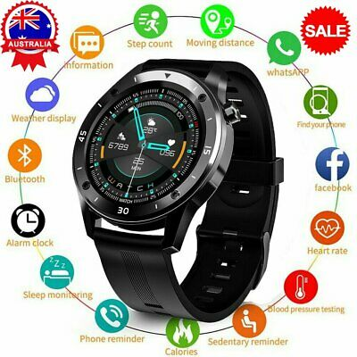 AU35.76 • Buy Smart Watch Bluetooth Heart Rate Blood Pressure Fitness Tracker For IOS Android~