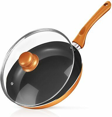 $34.99 • Buy Non-stick Frying Pan Ceramic Coating Copper Aluminum Pan With Lid Gas Induction