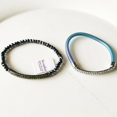 $ CDN6.31 • Buy New 2pcs Lia Sophia Stretch Bangle Bracelet Gift Fashion Women Holiday Jewelry