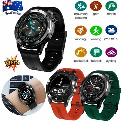 AU34.66 • Buy Smart Watch Bluetooth Heart Rate Blood Pressure Fitness Tracker For IOS Android