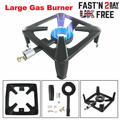 £20.99 • Buy Large Lpg Gas Burner Cooker Cast Iron Boiling Ring Camping Catering Restaurant M