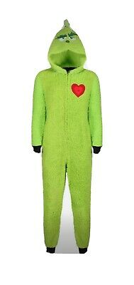 THE GRINCH ONESIE SIZE LARGE ( Not Gerber) Mans Womans Teenager CHRISTMAS L@@@@K • 18£