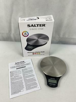 Salter Stainless Steel Digital Kitchen Weighing Scales • 14.99£