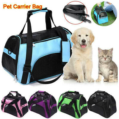 Pet Dog Cat Puppy Portable Travel Carry Carrier Tote Cage Bag Crates Kennel Box • 11.63£