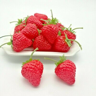 £8.03 • Buy Artificial Strawberry Fake Fruit Display Kitchen Home Food-Table Decorations UK