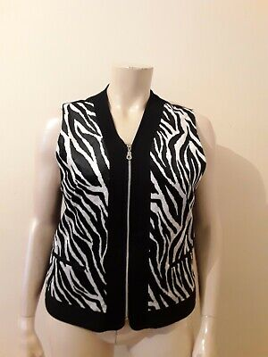 Time Out The Outfit Co Size M Velvet Zebra Print Waist Coat  • 1.99£