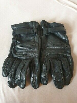 Men IXON Motorcycle Scooter Gloves Leather Black L Good Condition RRP£90 • 11.99£