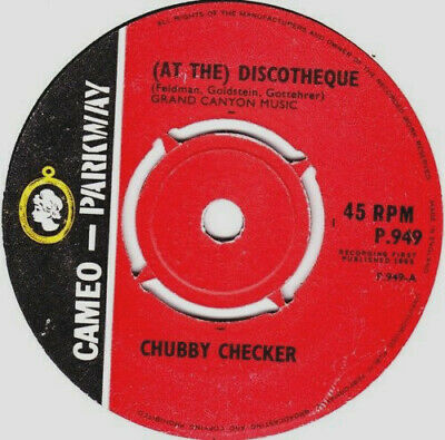 CHUBBY CHECKER - AT THE DISCOTHEQUE, UK,  Cameo Parkway, P 949,  '65     • 41.89£