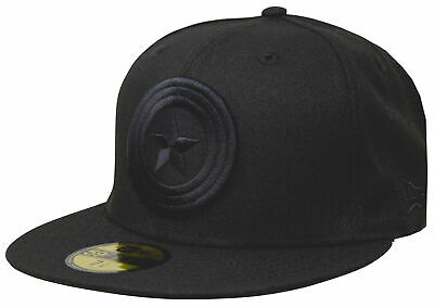 New Era Captain America Black 59Fifty Fitted Cap Marvel Cap Limited Edition • 46.43£