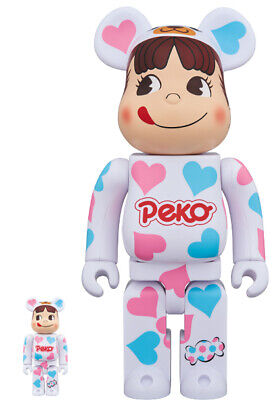 $582.21 • Buy With Delivery Note Be@Rbrick Costume Peko-Chan Heart 100 400 Bearbrick Chiaki