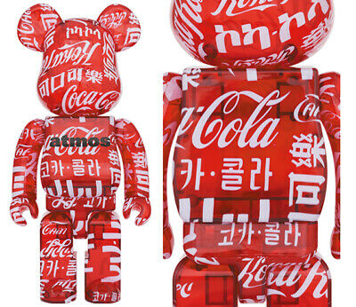 $469.98 • Buy Mint Atmos Coca-Cola Clear Red 400 Bearbrick /