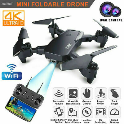 AU53.99 • Buy Rc Drone 4k HD Wide Angle Camera 1080P WiFi Fpv Drone Dual Camera For Kids Gift